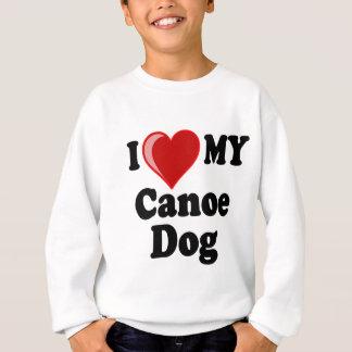 私は(ハート)私のカヌー犬を愛します スウェットシャツ