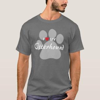 私は(ハート)私のカワウソ猟犬を愛します Tシャツ
