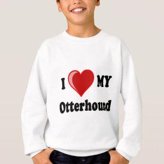私は(ハート)私のカワウソ猟犬犬を愛します スウェットシャツ