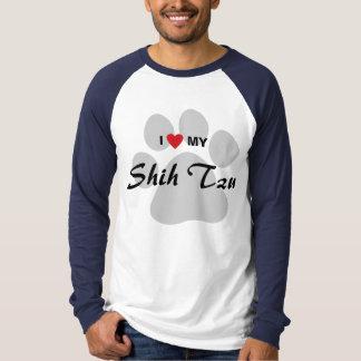 私は(ハート)私のシーズー(犬) Tzuを愛します Tシャツ