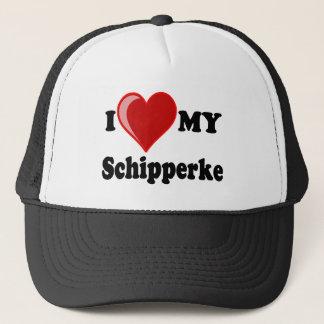 私は(ハート)私のスキッパーキ犬を愛します キャップ