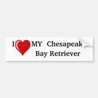 私は(ハート)私のチェサピーク・ベイ・レトリーバー犬を愛します バンパーステッカー
