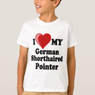 私は(ハート)私のドイツShorthairedポインター犬を愛します Tシャツ
