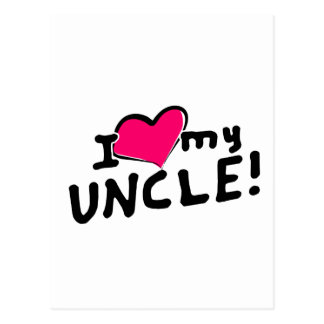 私は(ハート)私の叔父さんを愛します! ポストカード