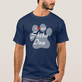 私は(ハート)私の柴犬を愛します Tシャツ