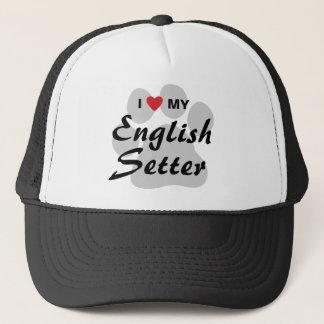 私は(ハート)私の英国セッターを愛します キャップ