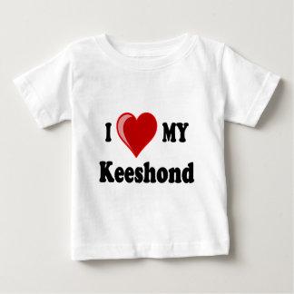 私は(ハート)私のKeeshond犬を愛します ベビーTシャツ