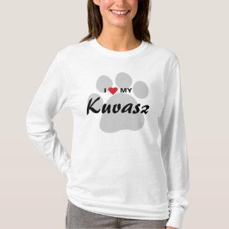 私は(ハート)私のKuvaszの愛犬家のワイシャツを愛します Tシャツ