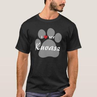 私は(ハート)私のKuvasz Pawprintを愛します Tシャツ
