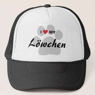 私は(ハート)私のLowchen Pawprintを愛します キャップ