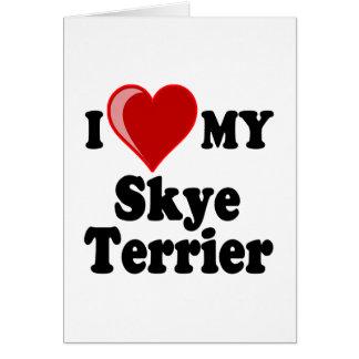 私は(ハート)私のSkyeテリア犬を愛します カード