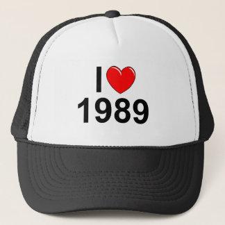 私は(ハート) 1989年を愛します キャップ
