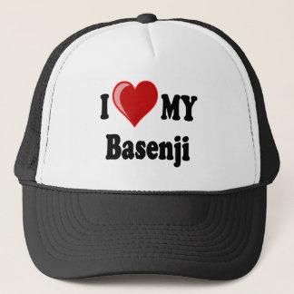 私は(ハート) Basenji私の犬を愛します キャップ