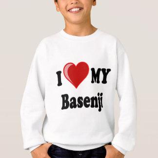 私は(ハート) Basenji私の犬を愛します スウェットシャツ