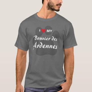 私は(ハート) Bouvier私のdesアルデンヌを愛します Tシャツ