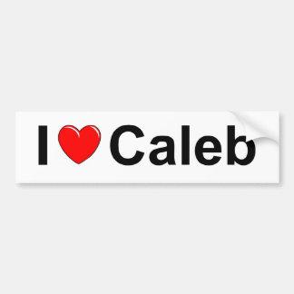 私は(ハート) Calebを愛します バンパーステッカー