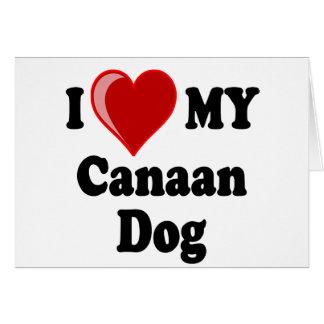 私は(ハート) Canaan私の犬を愛します カード