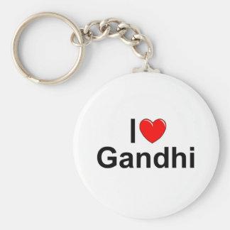 私は(ハート) Gandhiを愛します キーホルダー