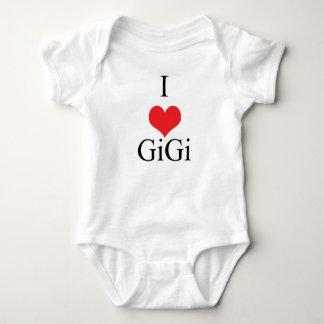 私は(ハート) GiGiを愛します ベビーボディスーツ