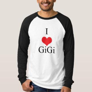 私は(ハート) GiGiを愛します Tシャツ