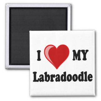 私は(ハート) Labradoodle私の犬を愛します マグネット