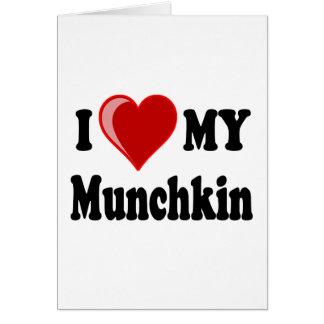 私は(ハート) Munchkin私の猫を愛します カード