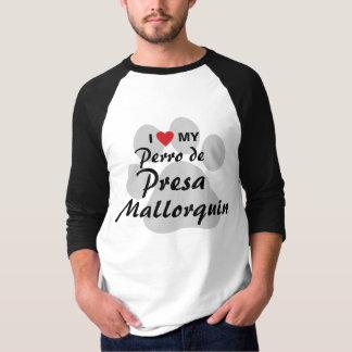 私は(ハート) Perro私のde Presa Mallorquinのワイシャツを愛します Tシャツ