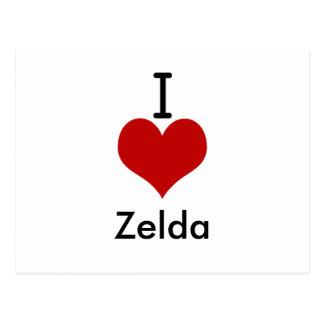 私は(ハート) Zeldaを愛します はがき