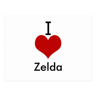 私は(ハート) Zeldaを愛します ポストカード