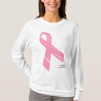 私は-ピンクのリボンのt-srhitを望みます tシャツ