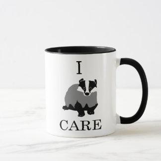 """""""私は""""ヨーロッパのアナグマを気にします マグカップ"""