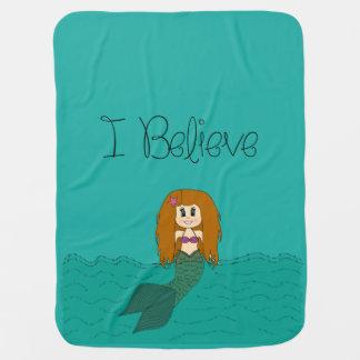 私は-人魚-変えます色を信じます ベビー ブランケット