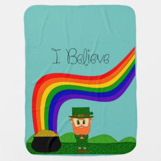 私は-小妖精-変えます色を信じます ベビー ブランケット