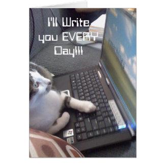 私は!毎日書きます!! カード
