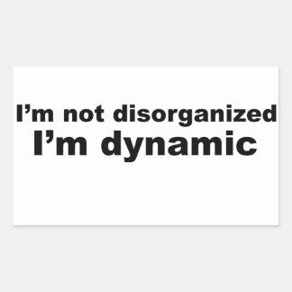 私は、私です動的組織を破壊されません 長方形シール