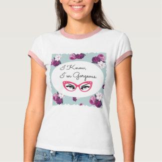 私は、私です豪華なレトロのTシャツ知っています Tシャツ