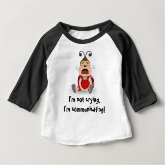 私は、私伝えていますベビーのTシャツを叫んでいません ベビーTシャツ