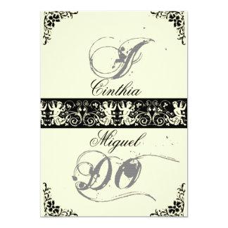私は、結婚式招待状 カード
