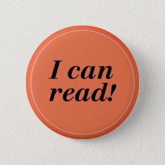 私は-読者か学生または幼稚園読んでもいいです 5.7CM 丸型バッジ