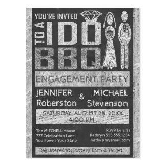 私は  BBQ  の婚約パーティをします ポストカード