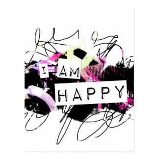 私は。Happy.Tellが世界ありなさいことを爽快ことを幸せです ポストカード