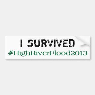 私は#HighRiverFlood 2013年を生き延びました バンパーステッカー