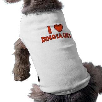 私は(Iのハートの)恐竜の恐竜の恋人の赤を愛します ペット服