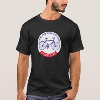 私は(MTB)バイクを好みます Tシャツ