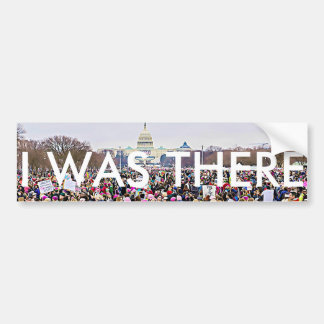 """""""私は"""" Washington D.C.の女性の3月そこにいました バンパーステッカー"""