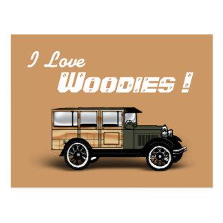私は、Woodies愛します! ポストカード