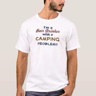 私はAキャンプ問題のTシャツを持つビール好きです Tシャツ