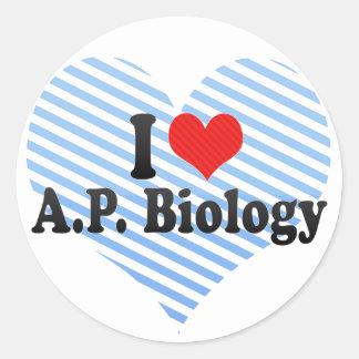 私はA.P. Biologyを愛します ラウンドシール