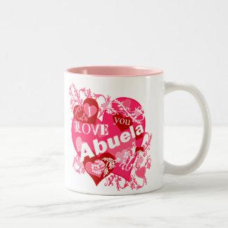 私はAbuela愛します ツートーンマグカップ