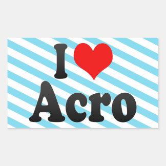 私はAcroを愛します 長方形シール